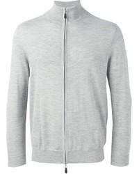 Jersey con cremallera gris