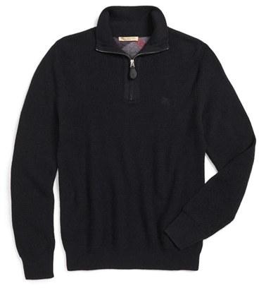Jersey con cremallera negro de Burberry