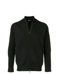 Jersey con cremallera negro de Z Zegna