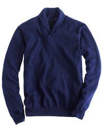 Jersey con cuello chal azul marino de J.Crew