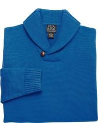 Jersey con cuello chal azul