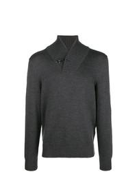 Jersey con cuello chal en gris oscuro de Fay
