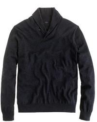 Jersey con cuello chal en gris oscuro de J.Crew