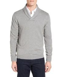 Jersey con cuello chal gris de Nordstrom