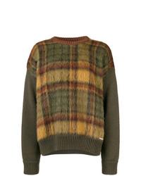 Jersey con cuello circular a cuadros marrón de DSQUARED2