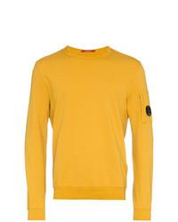 Jersey con cuello circular amarillo de CP Company
