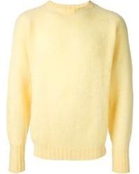 Jersey con cuello circular amarillo de Drumohr