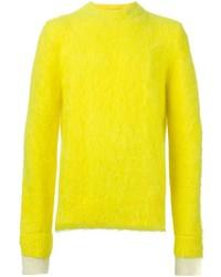 Jersey con cuello circular amarillo