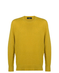Jersey con cuello circular amarillo de Maison Flaneur