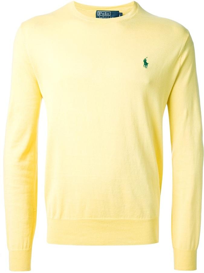67c0c6b22de17 ... purchase jersey con cuello circular amarillo de polo ralph lauren 2a52d  7649b ...