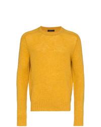 Jersey con cuello circular amarillo de Prada