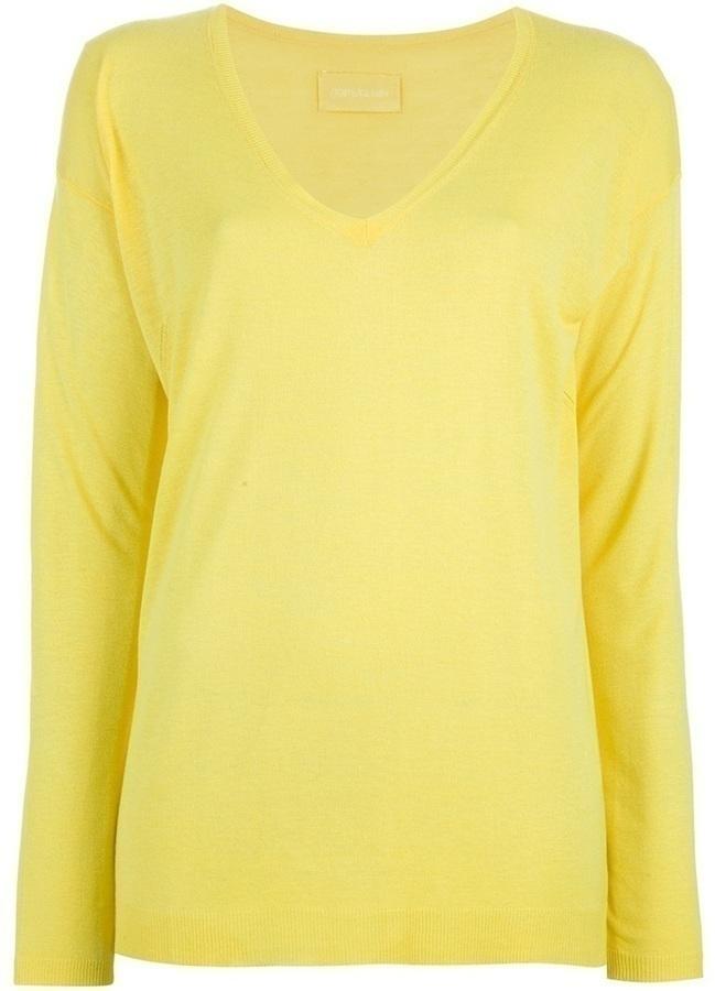 Jersey con cuello circular amarillo de Zadig & Voltaire