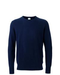 Jersey con cuello circular azul marino de Aspesi