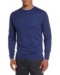 Jersey con cuello circular azul marino de Bobby Jones