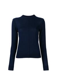 Jersey con cuello circular azul marino de Chloé
