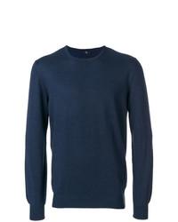 Jersey con cuello circular azul marino de Fay