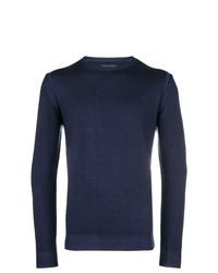 Jersey con cuello circular azul marino de Frankie Morello