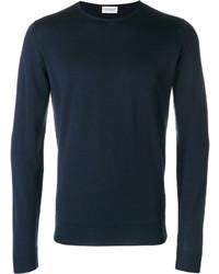 Jersey con cuello circular azul marino de John Smedley
