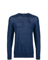 Jersey con cuello circular azul marino de Kiton