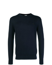 Jersey con cuello circular azul marino de Lacoste