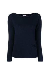 Jersey con cuello circular azul marino de Liu Jo