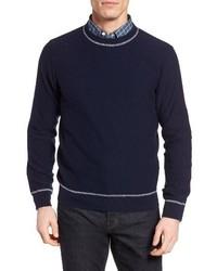Jersey con cuello circular azul marino de Luciano Barbera