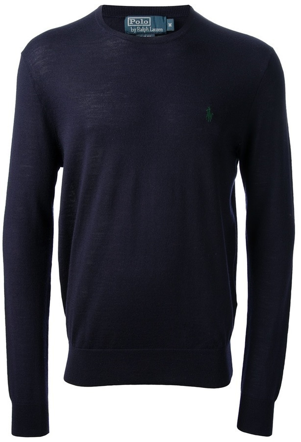 Jersey con cuello circular azul marino de Polo Ralph Lauren