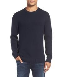 Jersey con cuello circular azul marino de Rodd & Gunn
