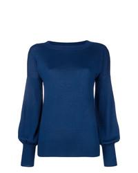 Jersey con cuello circular azul marino de Snobby Sheep
