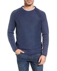 Jersey con cuello circular azul marino de Tommy Bahama