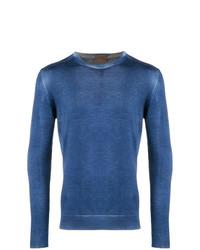 Jersey con cuello circular azul de Altea