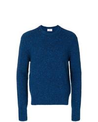 Jersey con cuello circular azul de AMI Alexandre Mattiussi