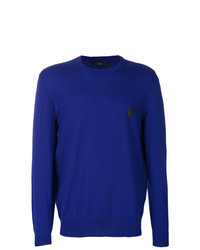 Jersey con cuello circular azul de Billionaire