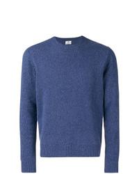Jersey con cuello circular azul de Borrelli