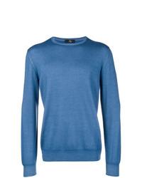 Jersey con cuello circular azul de Fay
