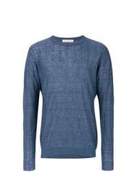 Jersey con cuello circular azul de Golden Goose Deluxe Brand