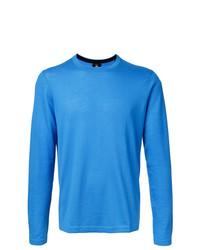 Jersey con cuello circular azul de Kent & Curwen