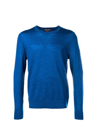Jersey con cuello circular azul de MICHAEL Michael Kors