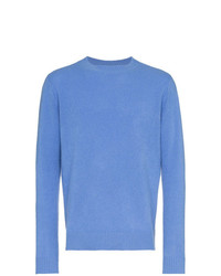 Jersey con cuello circular azul de The Elder Statesman