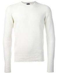 Jersey con cuello circular blanco