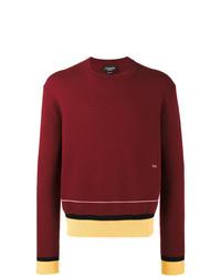 Jersey con cuello circular burdeos de Calvin Klein 205W39nyc