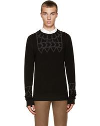 Jersey con cuello circular con estampado geométrico negro de Kolor