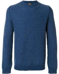 Jersey con cuello circular con relieve azul marino de Tod's