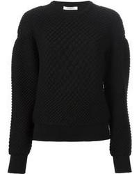 Jersey con cuello circular con relieve negro