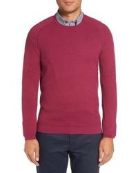 Jersey con cuello circular con relieve rosa de Ted Baker