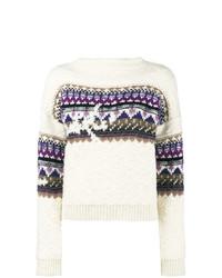 Jersey con cuello circular de grecas alpinos blanco de Isabel Marant Etoile