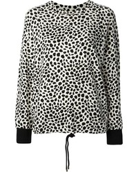 Jersey con cuello circular de leopardo en blanco y negro de Chloé