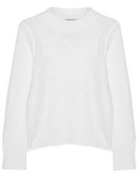 Jersey con cuello circular de mohair blanco de Sea