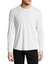 Jersey con cuello circular de punto blanco