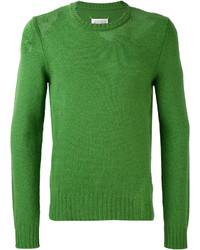 Jersey con cuello circular de punto verde de Maison Margiela